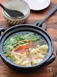 【簡単3工程】野菜とはるさめたっぷりヘルシー餃子鍋