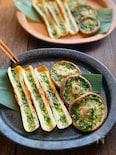 竹輪と椎茸のガーリックバター焼き