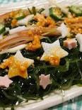 七夕仕様★切り昆布と夏野菜のあえ物