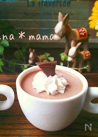 『どんどん混ぜたら冷すだけ♪簡単濃厚チョコプリン♪』