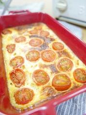 トースターで!プチトマトとベーコンのキッシュ風オムレツ