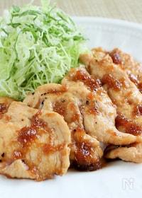 『鶏むね肉の生姜焼き』