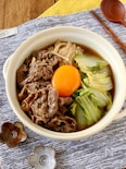簡単&スピードメニュー*牛肉と白菜のすきやき風煮