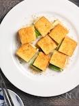厚揚げのチーズ大葉はさみ焼き