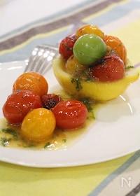 『レモン香る トマトの梅しそマリネ』