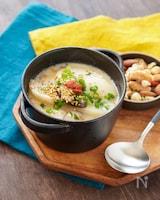 カブと椎茸の豆乳明太スープ