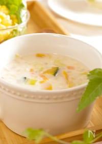 『10分で完成。野菜ゴロゴロ豆乳クリーミースープ』
