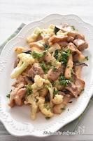 鶏もも肉とカリフラワーのマスタードマヨソテー