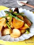 簡単副菜*エリンギとじゃがアスパラのバター醤油炒め
