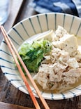 豚バラレタスの塩だれ肉豆腐【#簡単 #スピード #包丁不要】