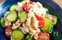 【茹で豚ときゅうりのポリポリサラダ 】お肉お野菜を一緒に♬︎