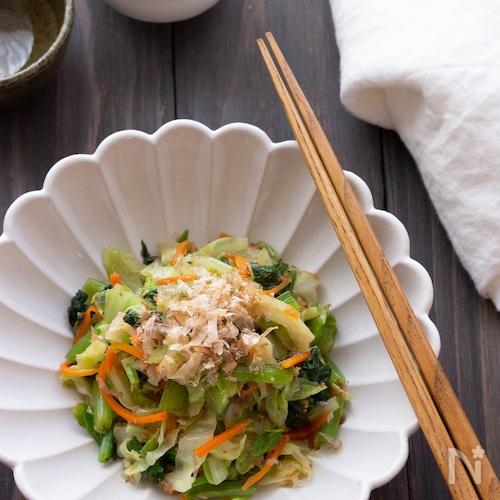 【あともう1品に】レンジ調理で簡単!野菜のおかか和え