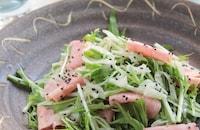 水菜と新玉ねぎのハムサラダ§ごちそうデリレシピ