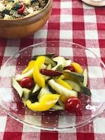 マスタード風味の夏野菜ピクルス
