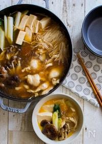 『さっぱり鶏すき焼き【STAUBレシピ】』