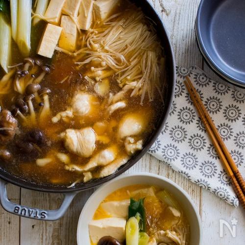 さっぱり鶏すき焼き【STAUBレシピ】