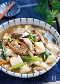 『小松菜と豆腐のだし醤油あん【#胃腸にやさしい #デパ地下風】』