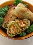 野菜まるごと☆まるごとピーマンのねぎみそフライ