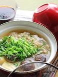 きのこと豆苗の湯豆腐