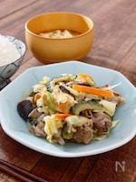夏野菜と豚肉の甘辛味噌炒め