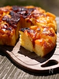 もっちり!桃のアップサイドダウンケーキ