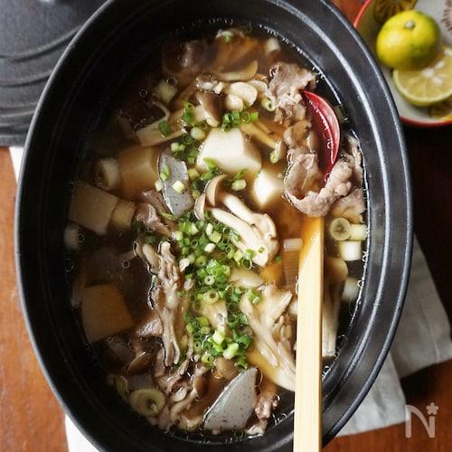 きのこたっぷり!里芋と牛肉の芋煮風汁