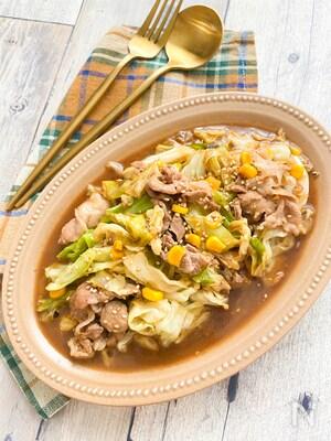 白米が止まらないー☆豚肉とキャベツのオイバタ炒め