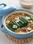 バラ肉で節約なのにお店の味!家族絶賛♡モツ鍋風スタミナスープ