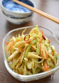 『味付け1つ♡栄養満点♡野菜の皮と芯で♡絶品♡うま塩きんぴら♡』