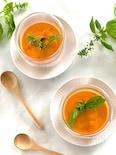 トマトと新じゃがいもの冷製ポタージュスープ(ストウブ調理)