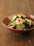 残暑のサッパリメニュー豆腐と海老のサラダ