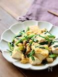 豆腐とねぎのオイスター卵炒め