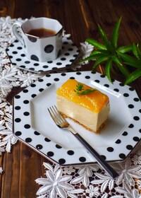 『マンゴー缶で簡単!マンゴーレアチーズケーキ』