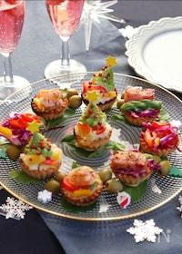 『トースターで!簡単彩りプチキッシュ♡クリスマスのオードブルに』