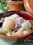 豚肉とじゃがいもとキャベツの塩・バター重ね蒸し
