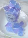 天然色の琥珀糖☆バタフライピーでキラキラ輝くブルーの宝石☆
