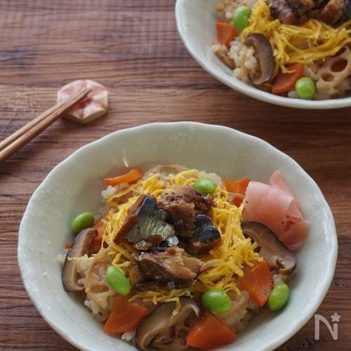 レンジで簡単!ふんわり玄米の蒸し寿司
