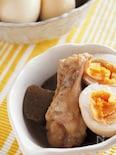 鶏手羽元とこんにゃくと卵の煮物