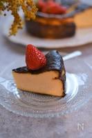 水切りヨーグルトでバスク風チーズケーキ
