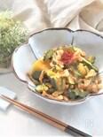 南瓜とゴーヤと豚バラ肉の麻婆煮