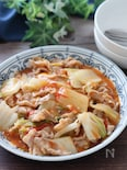 トマト苦手さんが絶賛♡豚ばらと白菜のトマト中華とろみ炒め煮