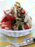 新玉葱とトマトのサッパリ和え物