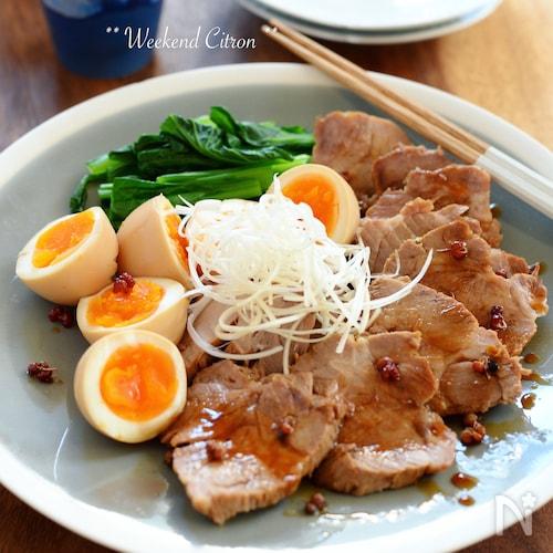 わが家のチャーシュー(煮豚、煮卵)