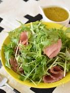 水菜とハムの粒マスタードサラダ