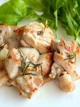 漬け込み冷凍の鶏肉のローズマリーソテー