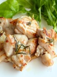 下味冷凍の鶏肉のローズマリーソテー