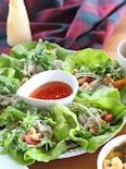 アジアンソースで!豚肉とパクチーサラダ