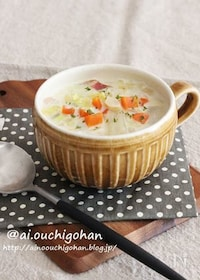『冬の定番♡かぶと白菜のほっこり濃厚とろみスープ♡』