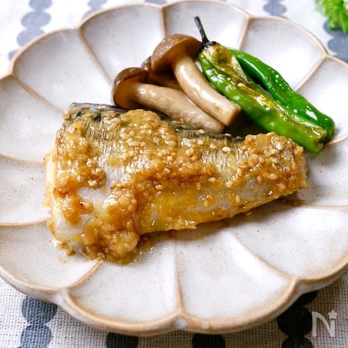 『鯖の味噌マヨ焼き』濃厚ダレが白ごはんによく合う♡