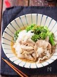 豚バラと菜の花のおろしポン酢煮【#簡単#時短#調味料2つ】